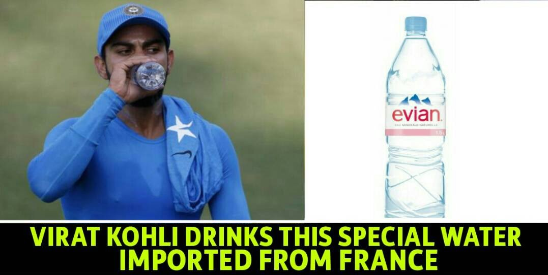 Virat Kohli Drinks Only This Brand Of Water