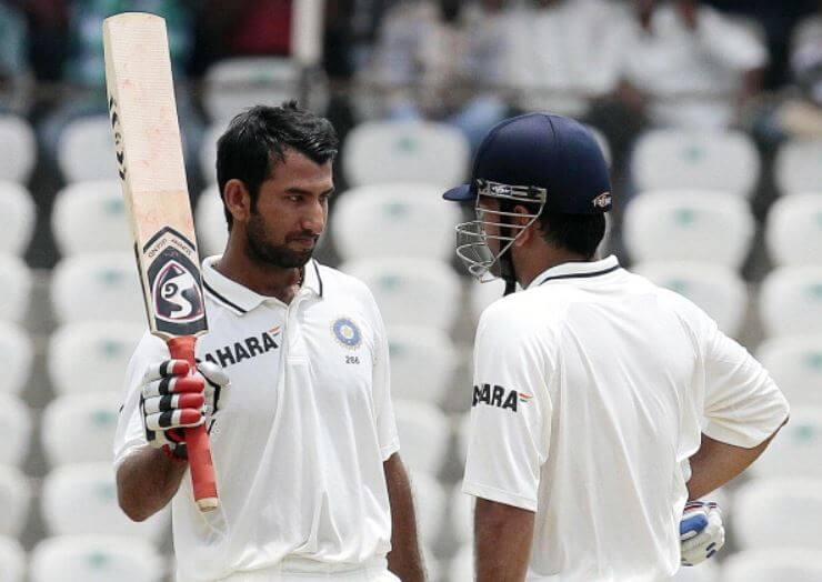 Image result for pujara dhoni