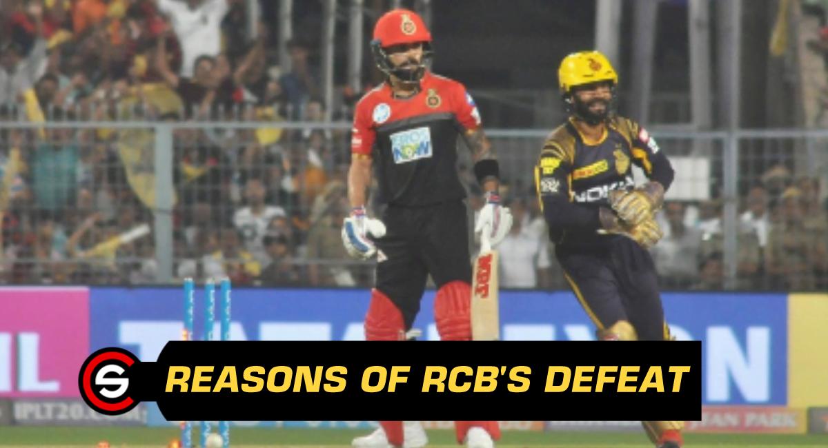 IPL 2018: Match 3 (KKR vs RCB) - Reasons of loss