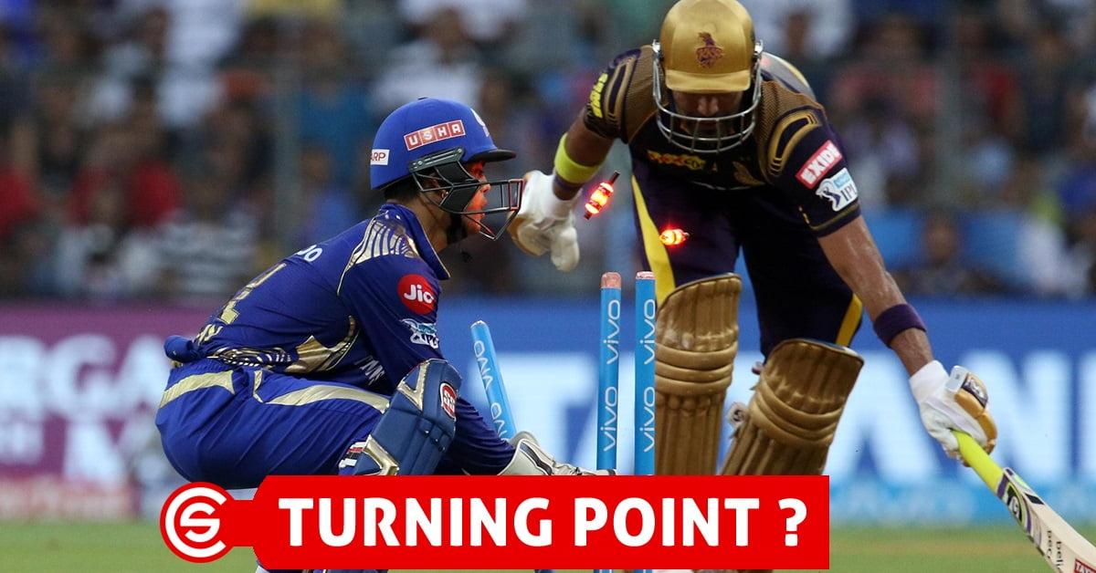 IPL 2018: (MI vs KKR) - Turning Point of the Match