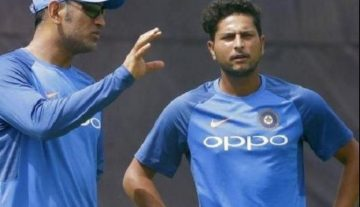 Kuldeep Yadav and Dhoni