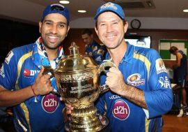 Rohit Sharma and Ricky Ponting