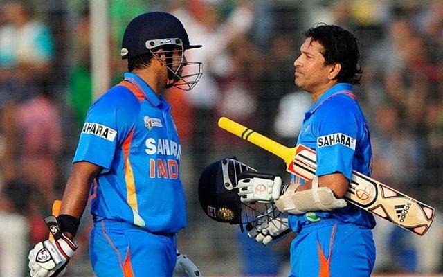 Suresh Raina and Sachin Tendulkar