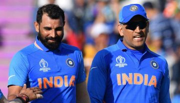Mohammed Shami and MS Dhoni
