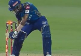 hardik wicket