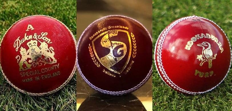 three test balls